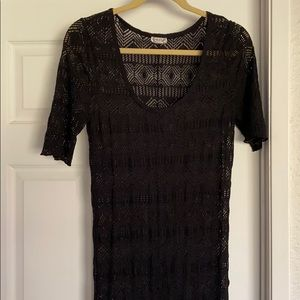 Sheer Free People lace Maxi